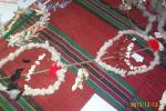 Суровачките са направени по народните обичаи с памук, пуканки, ошав, шипки и чер